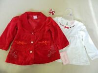 Set Girls Nannette Coat And Dress Size 2t Velveteen Coat Cute Embroidery