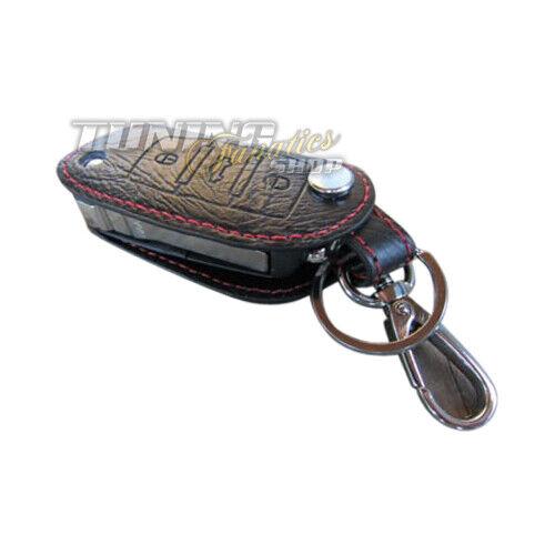 Für VW Seat Skoda Schlüsseltasche Klappschlüssel Schlüssel Etui LEDER ROT 3er