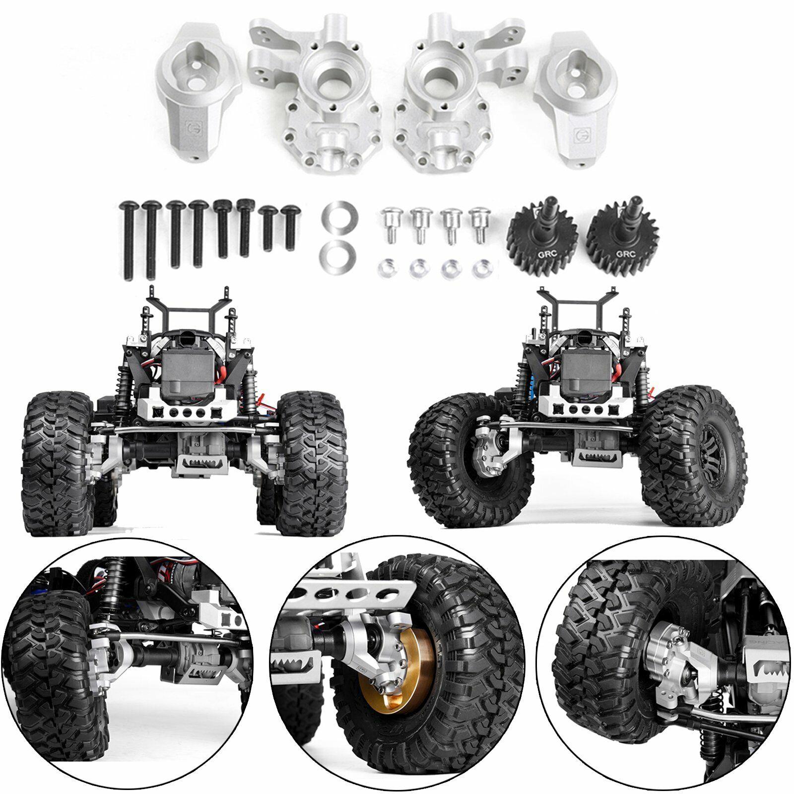 Bloque de hundimiento Volante Rueda De Metal C Hub Kit para para 1 10 Traxxas TRX4 RC Coche
