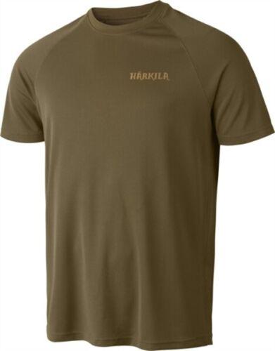 Harkila Herlet Tech Light Khaki Men/'s Short Sleeve T Shirt Hunting Shooting
