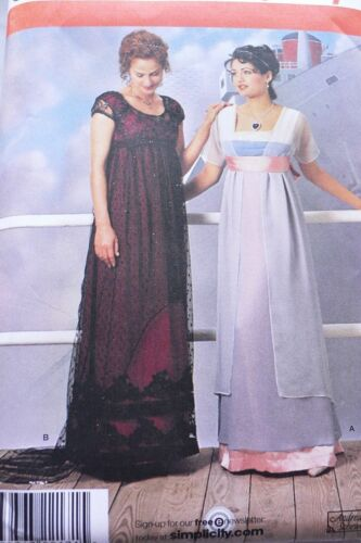 OOP Simplicity Titanic Rose/'s Jump /& Swim Dresses Costume Sewing Pattern Sz 4-20