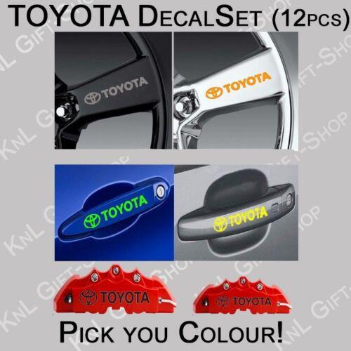 Toyota Decals For Wheels Handle 12pcs Caliper Vinyl Stickers Graphics Emblem