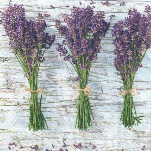 lavender vintage 4 single paper decoupage napkins Lavenda design -234