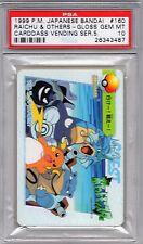 Pokemon Japanese Carddass Vending Series PSA 10 Raichu and Others