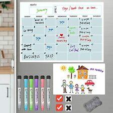 Magnetic Dry Erase Calendar Set Fridge 2 Boards Monthly Planner 165x12 Ampamp