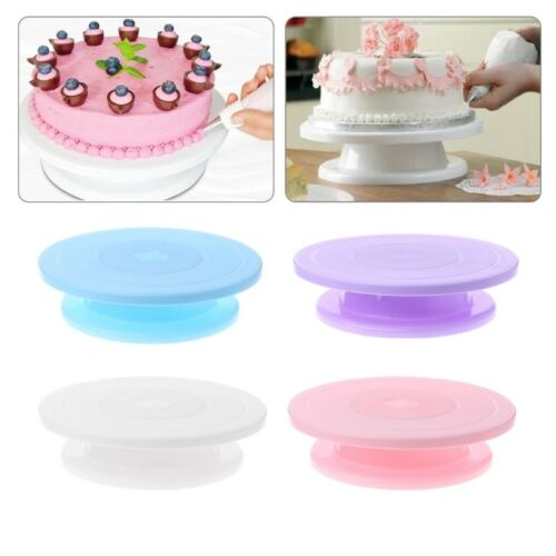 Rotating Cake Icing Decorating Kitchen Display Stand Revolving Turntable