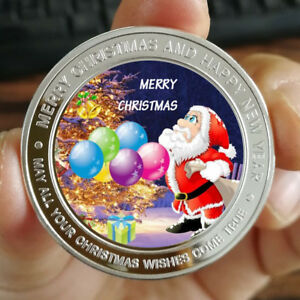 Merry Christmas and Happy new year  1 oz .999 Fine Silver Round Bar Bullion