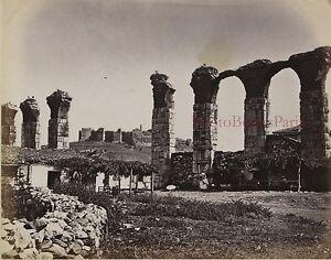 Rovine Ephesus Acquedotto Turchia Foto albuminé10x13cm Ca 1880