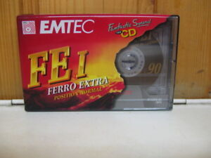 Ovp Tape Cassette Einfach Und Leicht Zu Handhaben Obligatorisch 1x Emtec Basf Fe I Ferro Extra 90 Leerkassette
