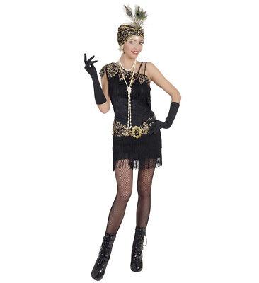 1920's Flapper Black Fancy Dress Costume Gatsby Charleston Woman's Ladies