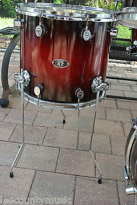 """PDP by DW 14"""" FLOOR TOM RED to BLACK SPARKLE BURST for YOUR DRUM SET! LOT #S310"""