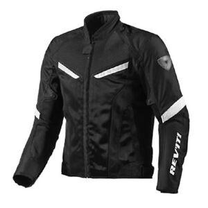 Motorcycle jacket Rev/'it Revit GT-R Air white Black perforated perforated jacket