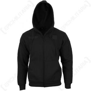 Black-Hoodie-Army-Military-Tactical-Warm-Headphone-Port-Hooded-All-Sizes-New