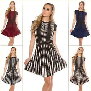 Koucla Strickkleid Minikleid Kleid Dress mit Schnürung