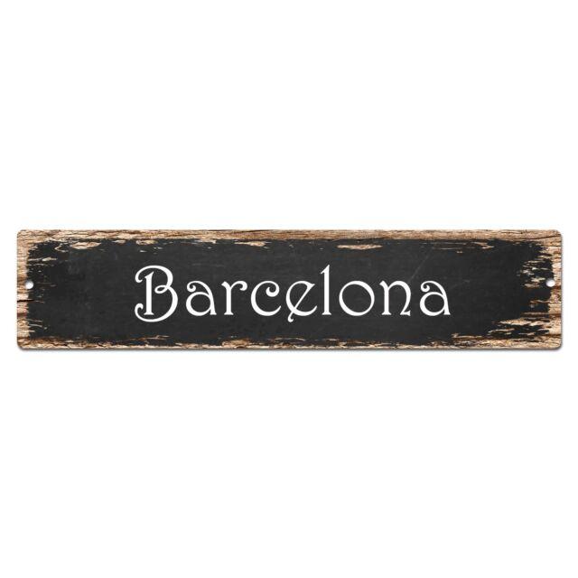 SP0138 Barcelona Street Sign Bar Store Shop Pub Cafe Home Room Chic Decor