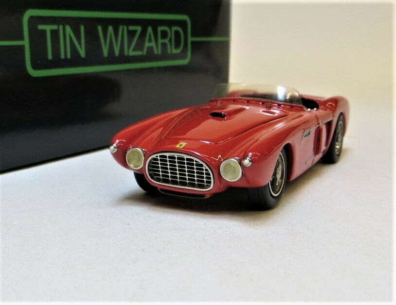 TIN WIZARD MODELS 1 43  1953 FERRARI MEXICO ROADSTER HANDBUILT BRAND NEW IN BOX.