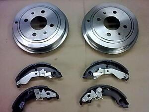 FIAT-PUNTO-MK2-1-2-BRAND-NEW-REAR-BRAKE-DRUM-DRUMS-X2-amp-BRAKE-SHOES-99-05-ABS