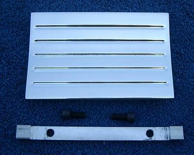 57 Chevy Polished Aluminum Clock Delete Panel W/Lines