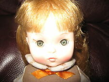 "Effanbee-Brownie Doll-10 1/2""-1960's-vinyl-no shoes or beanie"