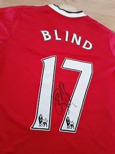 Manchester United Man Utd Signed Shirt Daley Blind