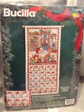 Bucilla Santa's Workshop Advent Calendar Counted Cross Stitch Kit Vtg. New