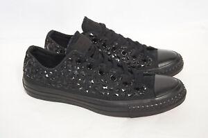 2ed3533b3422 CONVERSE All Star Chucks Stud Ox Rhinestone Black Low Top Sneaker ...