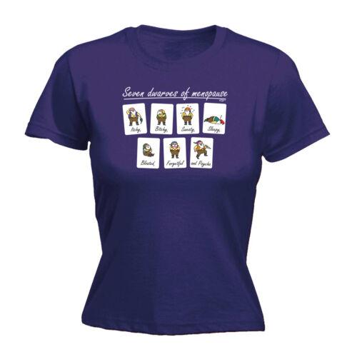 Drôle Nouveauté Tops T-shirt femme tee tshirt-Sept Nains de la ménopause