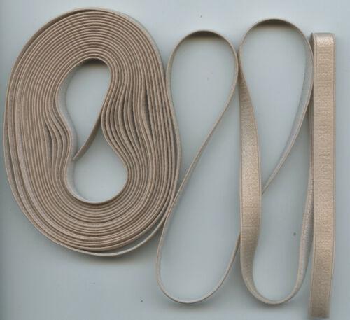 "5 yd 3//8/"" Beige Skintone Bra Strap Lingerie Baby Headband Garter Elastic USA EB5"