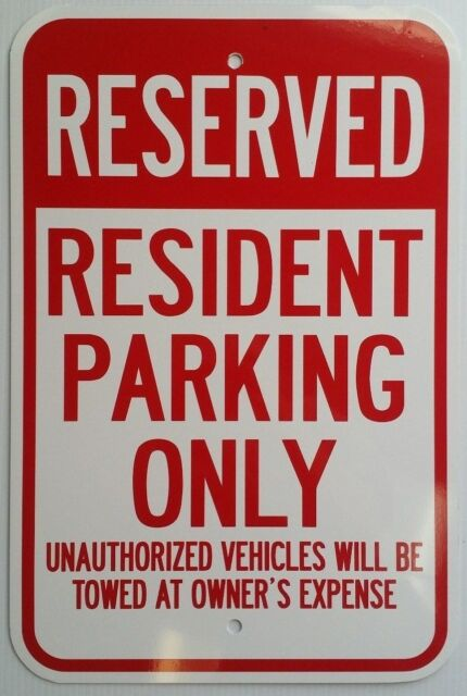 """Tenant Parking Only Sign 12/"""" x 18/"""" Heavy Gauge Aluminum Signs"""