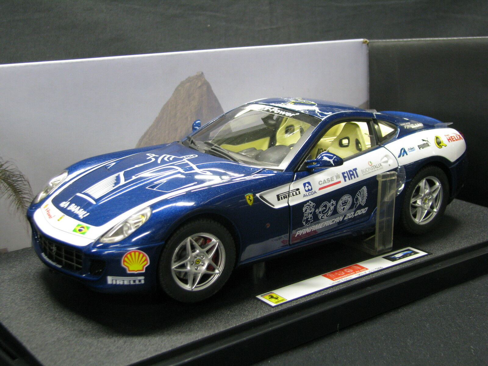 heta hjul Elite Ferrari 599 GTB Firano 2006 1 18 Panamerican (MCC)