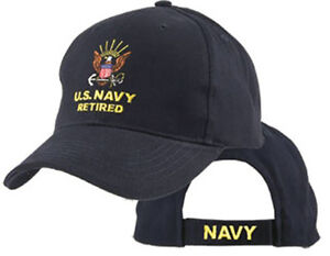 60eb22a1e18 ... discount code for image is loading u s navy retired hat usn baseball cap  86b71 cd57d