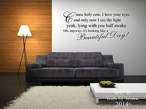Elbow-One-Day-Like-This-Lyrics-Wall-Sticker-Wall-Art-Home-Decor