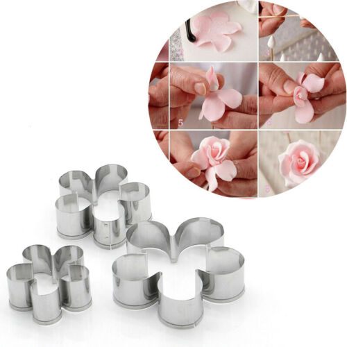 Stainless Steel Flower Petal Cutter Polymer Clay Cake Cutting Molds Tool DIY Acc