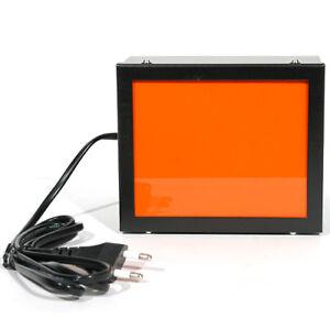 "Darkroom Safelight Lamp Dark Room Safe Light 220V 4"" x 5"" (Orange/Red Filter)"