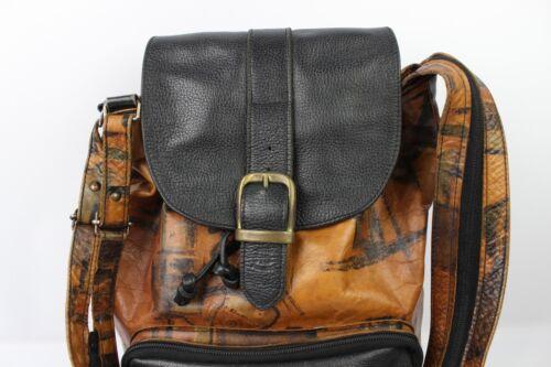 Borsa condizioni vintage pelle nero marrone buone e a tracolla in vxFvrI