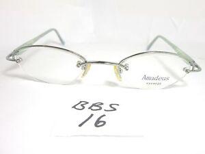 New Amadeus Eyeglass Frame Ar11 Lbl Half Rimless Light Green Bbs 16 Ebay