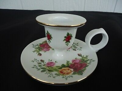 The Royal Albert China Store Old Country Rose Taper Candle 9.5 inch SET OF 2
