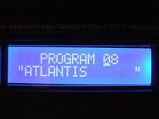 Alesis Quadraverb / Plus / GT WHITE on Blue LED display  - Simple Plug in Design
