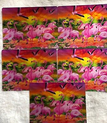 3D Lenticular Postcards LOT OF 5 Underwater,Swimming Fish Frenzy  Beautiful NEW