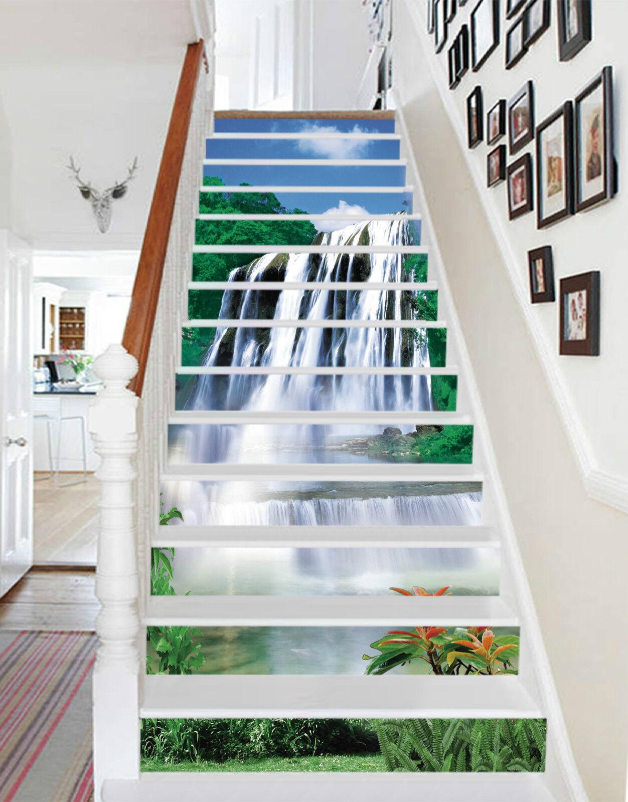3D Wasserfall 3004 Stair Risers Dekoration Fototapete Vinyl Aufkleber Tapete DE