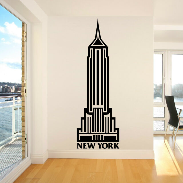 EMPIRE STATE BUILDING USA NEW YORK America Vinyl wall art room sticker decal