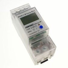 5A to 65A 120V 60Hz Single Phase Reset To Zero DIN-rail Kilowatt LED kwh Meter