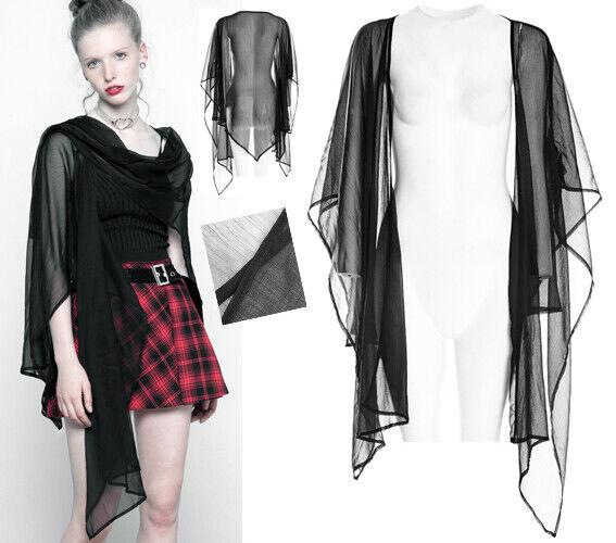 Veste châle étole dentelle voilage gothique punk lolita bohème volants PunkRave