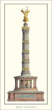 Johann Heinrich Strack Berlin Siegessäule Poster Kunstdruck Bild 100x47cm
