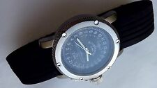 Russian 24-hour mechanical watch Submarine U-995 Laboe 47 mm black