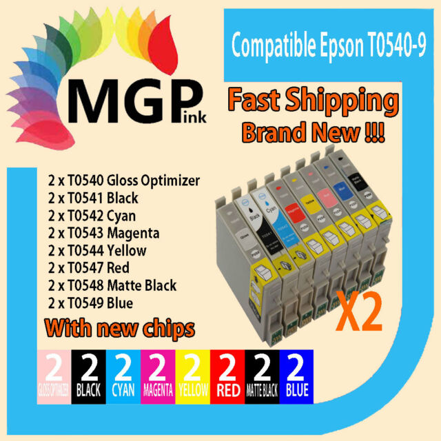 16 Ink Cart T0540 T0541 T0542 T0543 T0544 T0547 T0548 T0549 For Epson R800 R1800