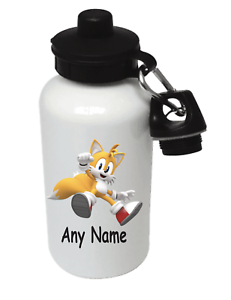 Sonic the Hedgehog Tails Personalised Kids boissons Sports Children/'s bouteille d/'eau