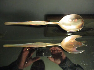 n14 CHRISTOFLE MARLY SILVERPLATE SALAD SERVING SPOON