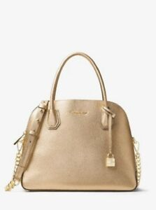 6b005290ceba New MICHAEL KORS STUDIO MERCER LARGE DOME LEATHER SATCHEL BAG Pale ...