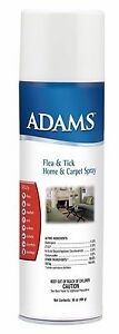 Adams Flea & Tick Home & Carpet Spray, 16 oz Kills Fleas Ticks Spiders Roaches